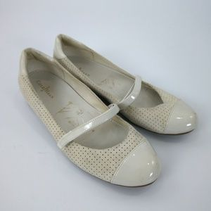 Cole Haan Shoes - Cole Haan Mary Janes Beige Suede 7B Wedge Heel